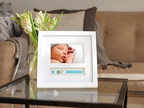 Pearhead Baby Hospital Id Bracelet And Photo Keepsake Frame White